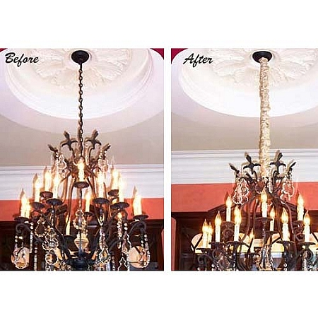 Hanging A Chandelier And Installing A Ceiling Medallion