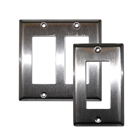 Electrical Duplex Decora Wall Plates Empty Stainless