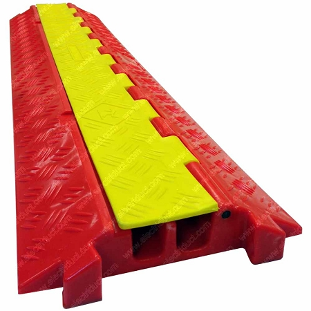 The Falcon Polyurethan Cable Protector 2 Channel Safety Ramp
