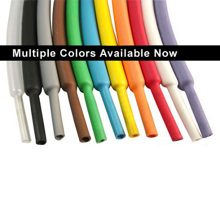 colored 2 1 heat shrink tubing standard polyolefin. Black Bedroom Furniture Sets. Home Design Ideas