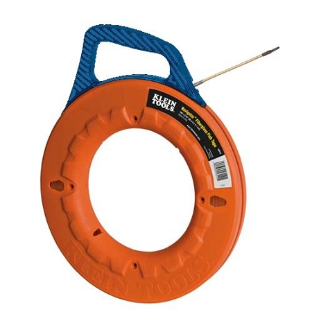 Klein tools navigator fiberglass fish tape with 7 inch leader for Fiberglass fish tape