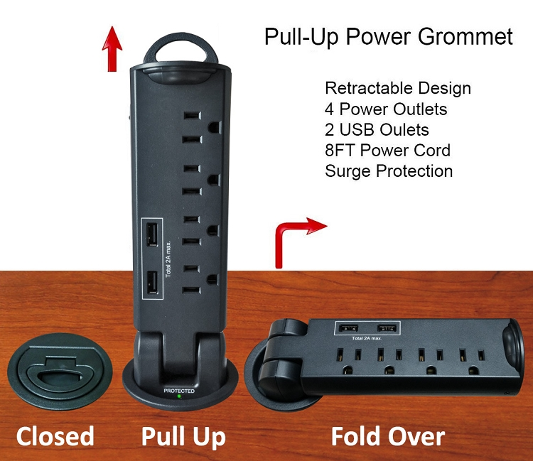 In Desk Power And Data Outlet