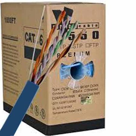 V Max Cat6 Utp Plenum Fire Retardant Cable