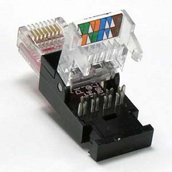 RJ45 Cat6 UTP ToolLess Plug   SnapIn Connector   Networking