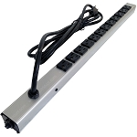 12 Outlet Aluminum Case Power Strip
