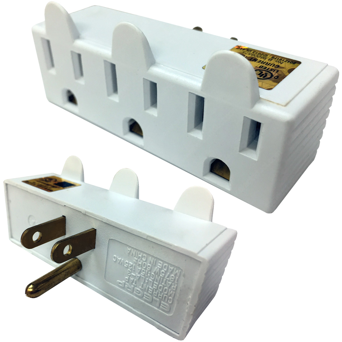 Multi-Outlet Wall Adapter Power Taps | 3 & 6 Outlets | Polarized ...
