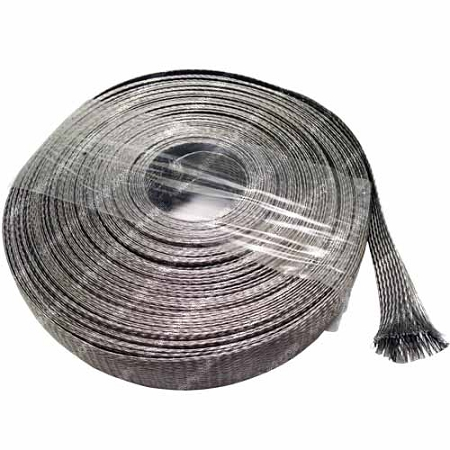 304 Stainless Steel Braided Sleeving Economical Metal Sleeve