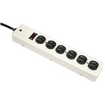 6 Outlet Metal Case Power Strip