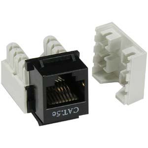 cat 5e rj45 110 type keystone jacks networking. Black Bedroom Furniture Sets. Home Design Ideas