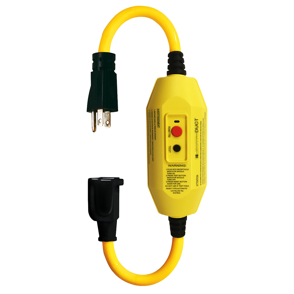 Gfci In Line Portable Adapter Cords Single Outlet Triple Tap