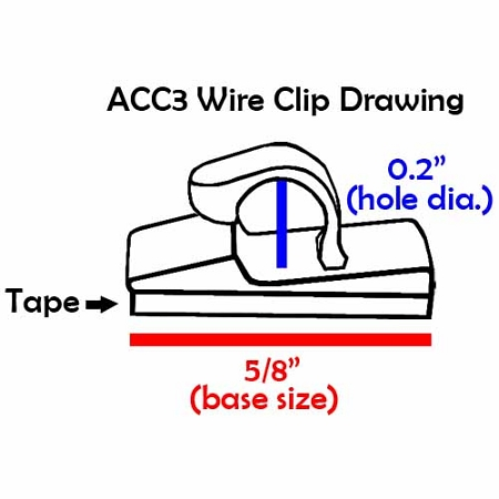 Adhesive Backed Wire Clips | Wire Management