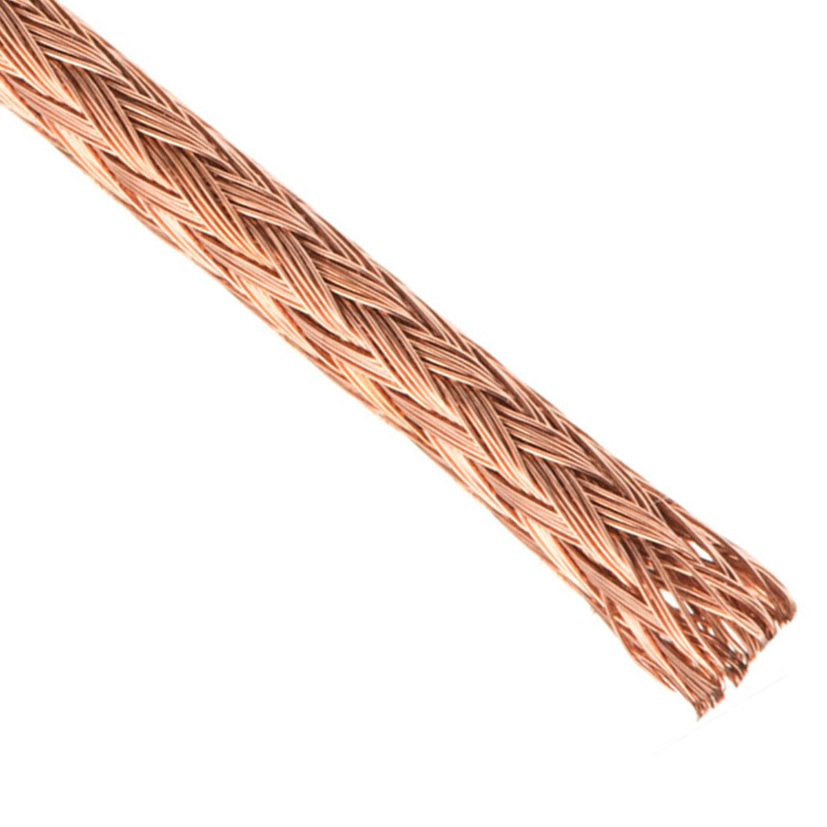 Bare Copper Braided Sleeving | 100% Pure