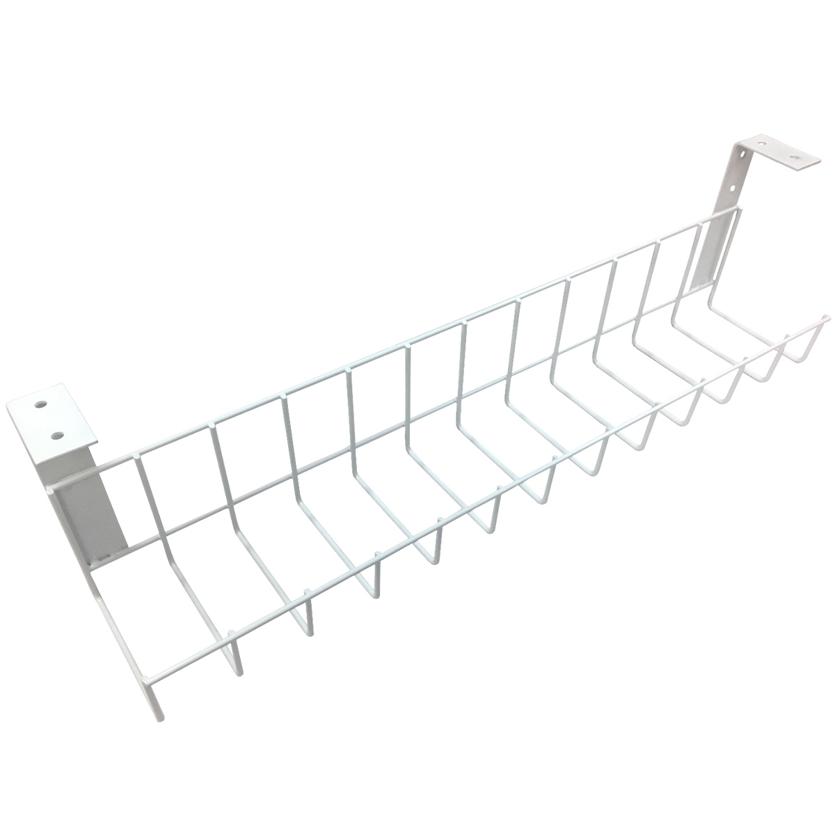 The Basket Cable Rack Wire Mesh System | Mounts on Walls and Under Desks