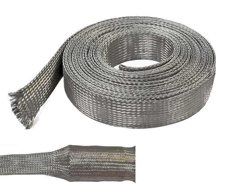 Tinned Copper Metal Braided Sleeving Emi Rfi Protection