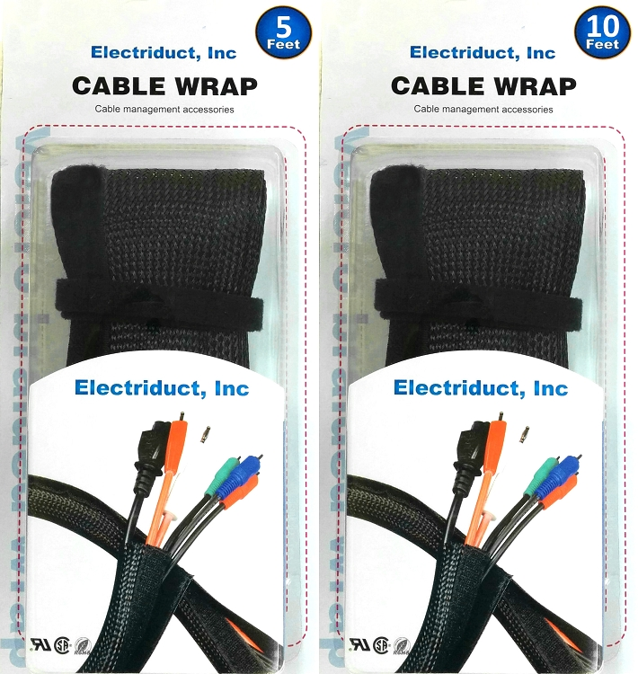 Side Entry Cable Wrap Sleeving with Hook & Loop Fastener