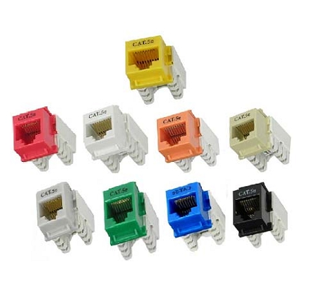 Cat 5e Rj45 110 Type Keystone Jacks Networking