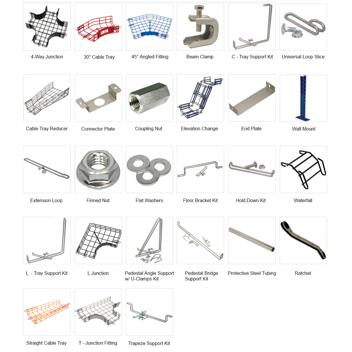 Picture of: Cable Tray Accessories Hardware Wire Management Systems