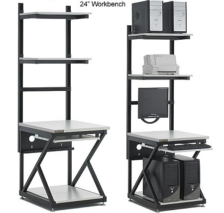 Computer WorkBench With Full Bottom Shelf   Kendall Howard