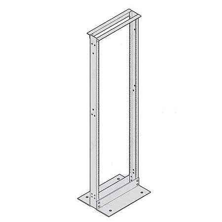 two post network equipment rack cooper b line 89596