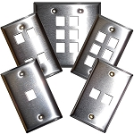 Flush Modular Wall Plates - Stainless Steel - Empty