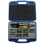 Gem Electronics Compression Crimper / Wire Stripper Tool Kit