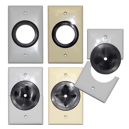 Grommet Wall Plates Plastic Cable Management
