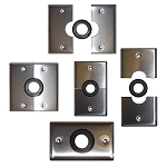 Grommet Wall Plates - Stainless Steel