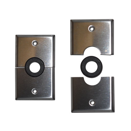 Grommet Wall Plates Stainless Steel Cable Management
