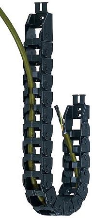 0.51 Max Cable Diameter 1.1 Bend Radius EZ-Split Crossbar 0.75 Inner Height 2ft Chain Length Polymer 1.97 Inner Width Igus E14-4-028-0 Energy Chain Cable Carrier