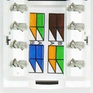 rj45 110 type keystone jacks cat 6 networking rh electriduct com cat6 keystone jack wiring diagram Cat 6 Wiring Diagram