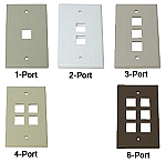 Leviton QuickPort® Single Gang Wall Plates
