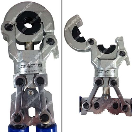 Mechanical Crimping Tool With Telescoping Handles Pex