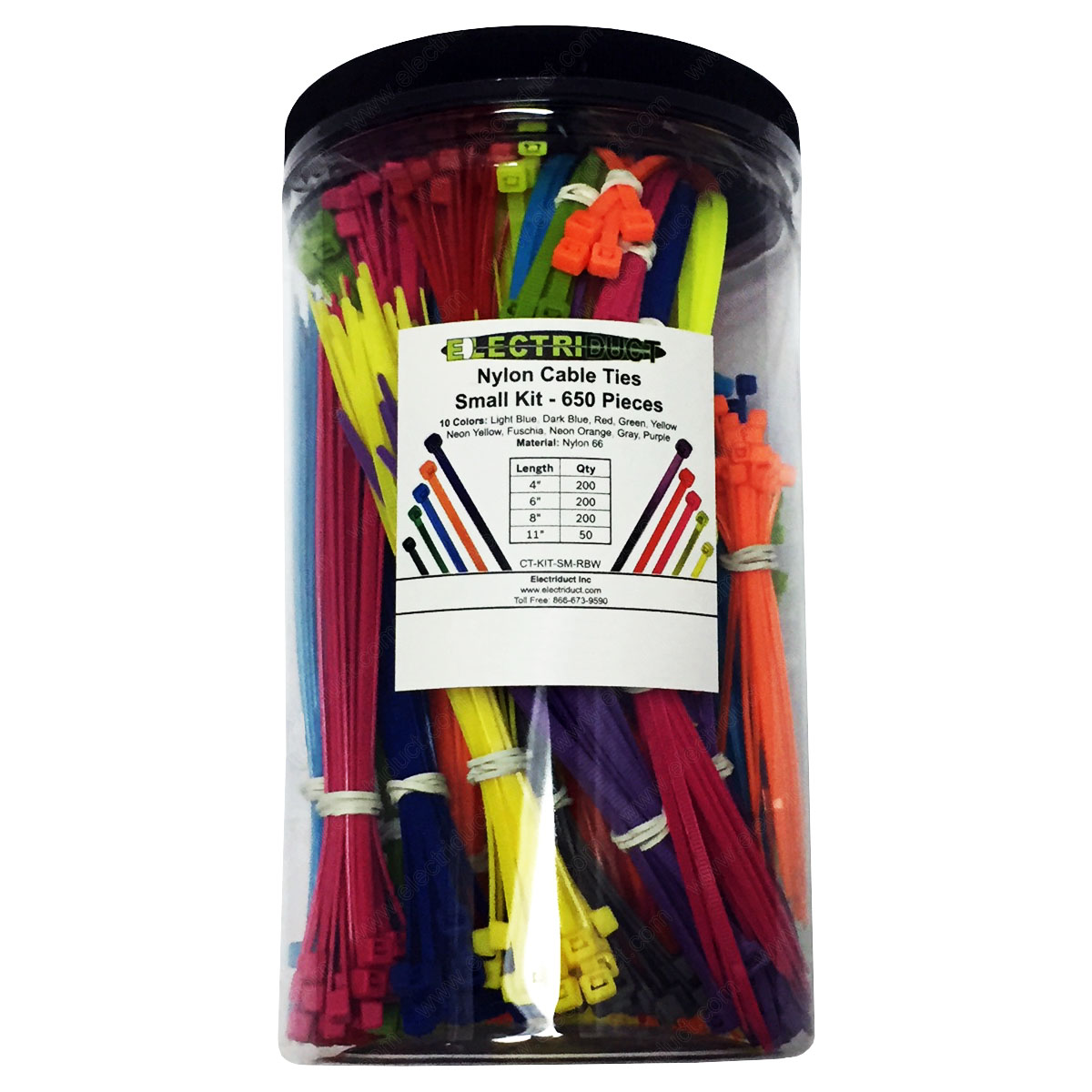 """UV Resistant Small Nylon Cable Ties 100 Pack GTSE 4/"""" White//Clear Zip Ties Self-Locking 4 Inch Tie Wraps 18lb Strength"""