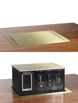 Pop Up Table Boxes Power And Data Centers - Av table box