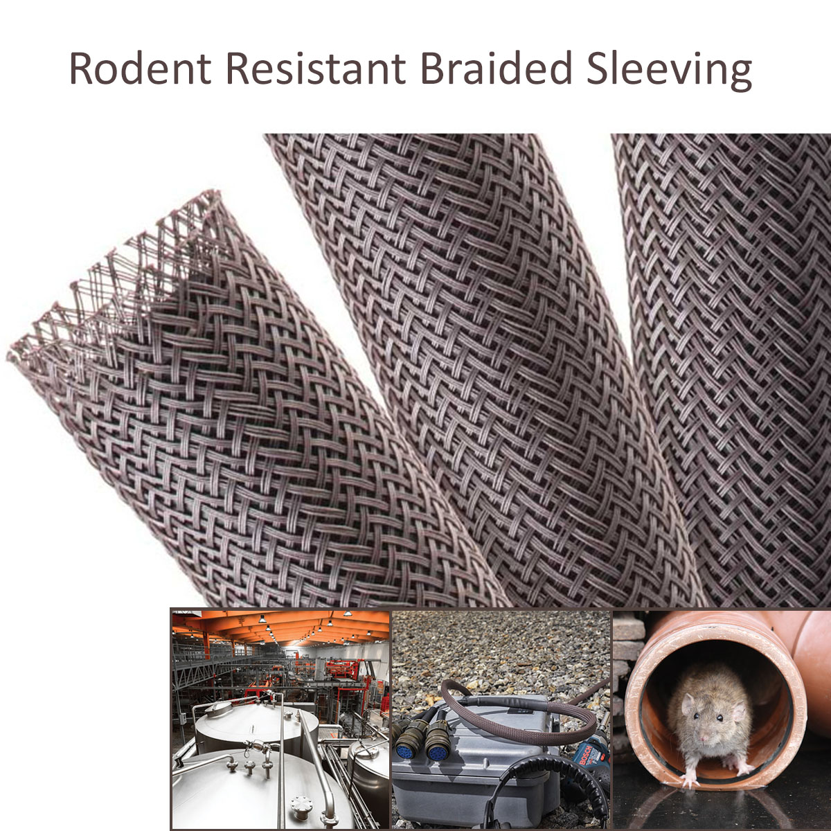 Rodent Resistant Braided Sleeving