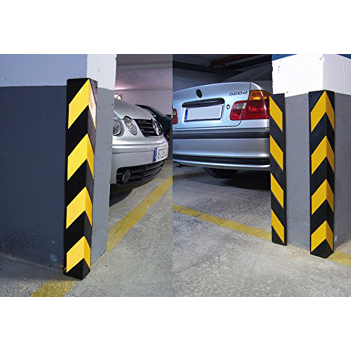Rubber Corner Guard Wall Protectors L Shaped Rounded
