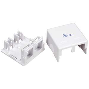 cat 6 ethernet jack wiring diagram surface mount ethernet jack wiring diagram for rj45 surface mount boxes - empty | 1 port | 2 ports | wall ... #4