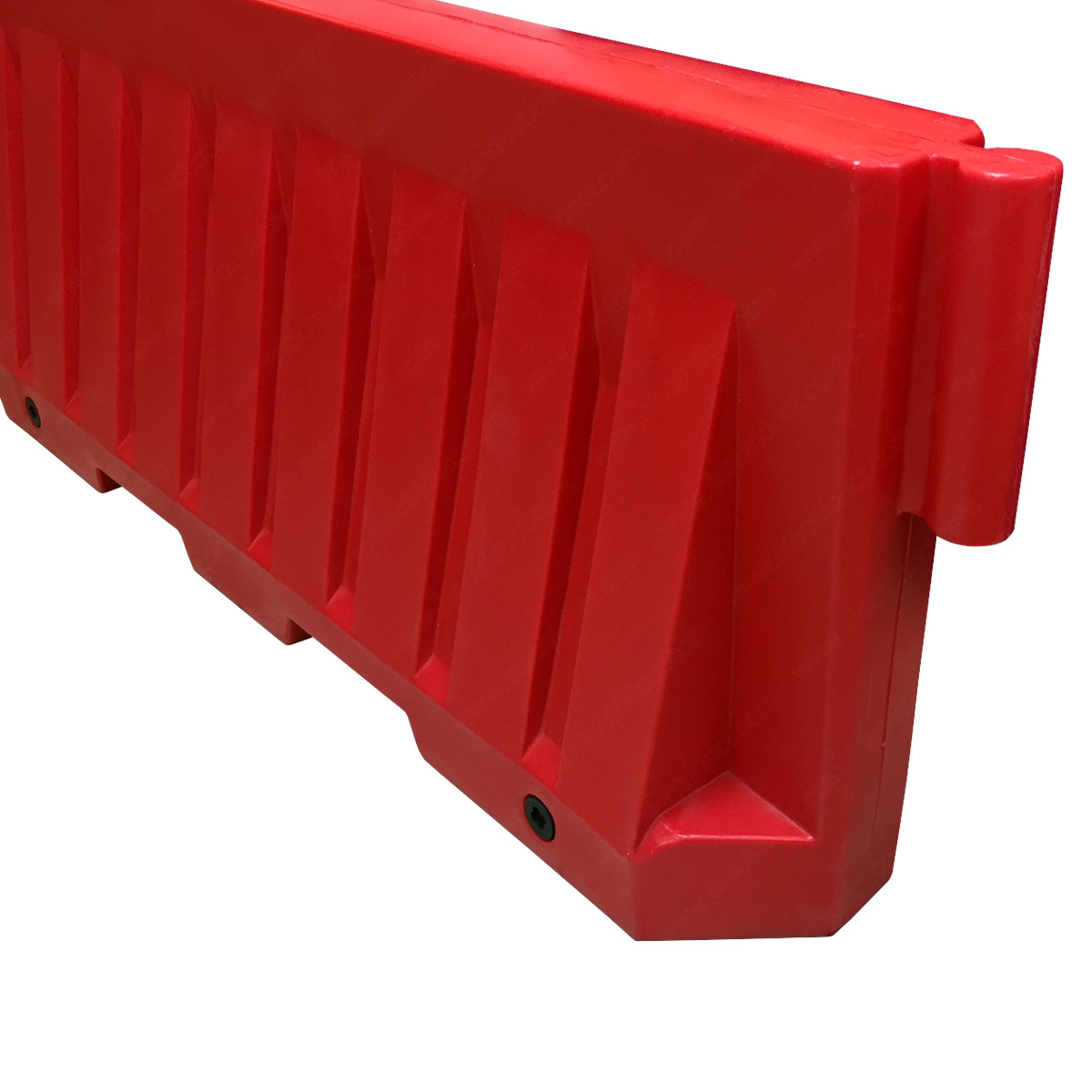 Water Fillable Plastic Jersey Style Traffic Barriers Red