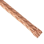 Bare Copper Braided Sleeving - 100% Pure