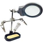 Helping Hands Magnifing Glass with LED Lights and Soldering Station