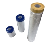 Painters Pre-taped Masking Film Plastic Drop Cloths