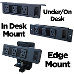 Universal Desk Power Centers - AC Power & USB