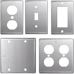 Stainless Steel Wall Plates Light Switch Covers - Electriduct