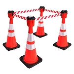 Traffic Cone Topper Retractable Barrier Belts - Electriduct