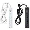 USB Power Strip with 6 Outlets & 2 USB Charging Port Surge Protectors - Electriduct