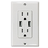 Electriduct Duplex Receptacles with USB Ports