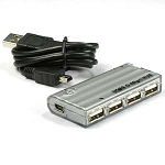 USB 2.0 4 Port Hub Bus and Self-Powered