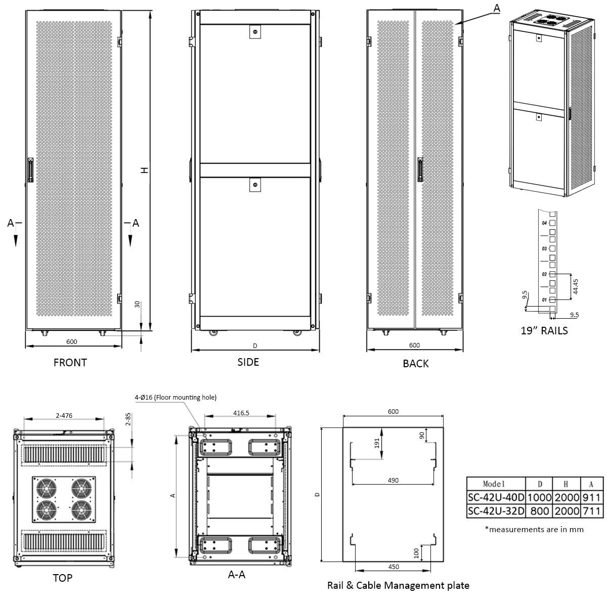 E Pro Ve Server Rack Enclosure Cabinets Electriduct