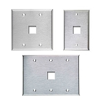 Wall Phone Wall Plates - Stainless Steel - Empty
