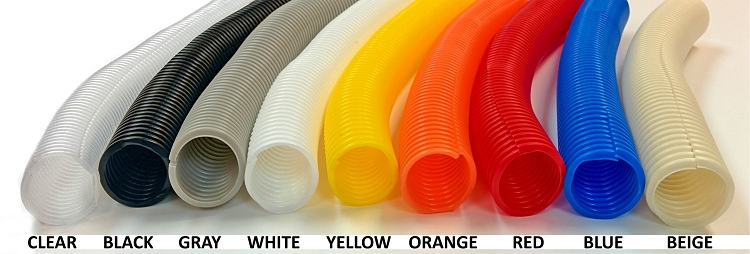colored split wire loom flex tubing polyethylene rh electriduct com motorcycle wiring harness tubing auto wiring harness tubing